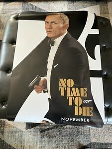 No Time To Die Theatrical Poster 27x40 D/S Very Small Wear Never Used SEE PHOTOS