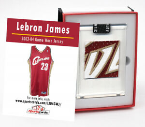 Lebron James 2003-04 Rookie Cavs Game Worn Jersey Mystery Swatch Box #3715024