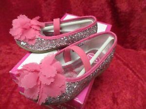 "New w Box/ Kids ""Kitty Glitter"" Flowers by Zoe Shoes Fuchsia Size 6 M(Toddler)"