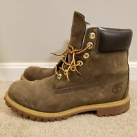 "Timberland Olive Sage Army Green Premium 6"" Men's boots size 11 waterproof"