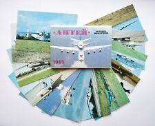 1991 Pocket Calendar 12 pcs Airplane Aircraft Aviation Aeroflot Vintage USSR ☭