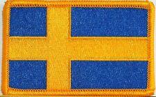 SWEDEN Flag Military Patch W/ VELCRO® BRAND Fastener Gold Emblem #8