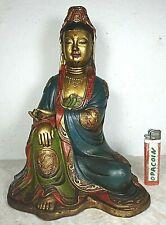 Alte Guan-Yin Buddha Bronze Anmut Pur 8 Glückszeichen Original UNIKAT Tibet 1960