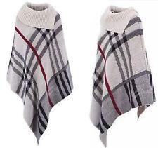 Ladies Womens Poncho Shawl Top Cardigan Winter Jacket Hoodie Scarves Cape Type