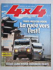 4X4 MAGAZINE N° 119 / PARIS-MOSCOU-PEKIN/ DEFENDER 110 DTI/ ARO 10/ MADAGASCAR