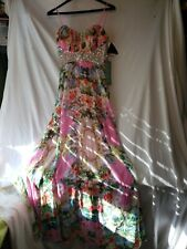 NWT City Triangles Dress Floral Rhinestone Embellished Juniors 9 Formal Gown