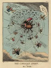 THOMAS ROWLANDSON BRITISH CORSICAN SPIDER WEB OLD ART PAINTING POSTER BB6428A