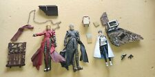 TRIGUN LOT OF 3 2 VASH RED BLACK, MERYL ACTION FIGURES INCLUDING OTHER ITEM USED