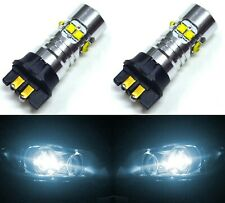 LED 50W 12183 PW19W White 6000K Two Bulbs DRL Daytime Running Light Volvo