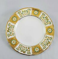 English Royal Crown Derby Salad Plate PANEL GREEN A1237 Fine China England