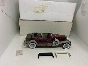 Franklin Mint 1:24 1930 Duesenberg J Derham Tourster, brown