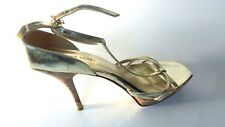 Women's, Open Toe Gold Platform with Cork Style Heel Size 10