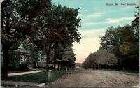 Postcard Bangor Maine c.1907-1915 West Broadway Houses Trees