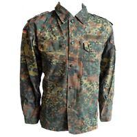 Genuine German Army Flecktarn Shirt Camo Top Military Camouflage Surplus Field