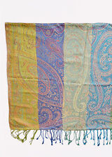 Shades Of Blue and Green Pashmina  Scarf