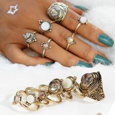 6Pcs Retro Women Gold Silver Boho Midi Finger Knuckle Rings Jewelry Gifts