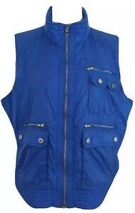 Ralph Lauren Golf Size XL Blue Multi Pocket Front Lightweight Vest *Rare*