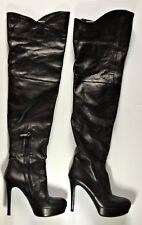 The Seller Women's Leather High Heel Over the Knee Boots Size 37 US 6.5