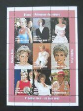 Burkina Faso-1997-9 Stamp Princess Dianna Minisheet-MNH