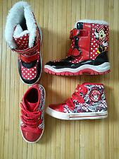 2x NICE Minnie Mouse Autunno Inverno Bundle Ragazza Sneaker Con Taglia 10 Taglia 11