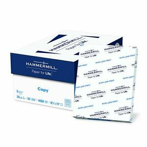 Hammermill Business Copy Paper 20 lb 92 Bright 8 Ream Case 4000 Sheets