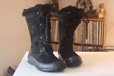 The North Face Black Suede 10 Inches Tall 200 Gram Primaloft Laced Boots Size 6