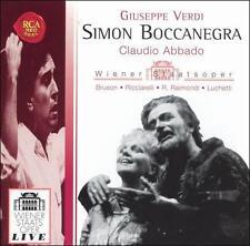 Giuseppe Verdi: Simon Boccanegra 2 CD Set RCA Claudio Abbado Wiener Staatsoper