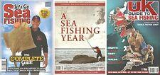 3 BOOK SET £4.95! SEA FISHING YEAR / LETS GO SEA FISHING / TACKLE TACTICS BAIT