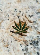 Hemp Weed 420 Enamel Hat Lapel Pins Free USA Shipping + Cloth Gift Bag