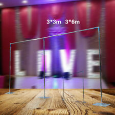 3x3m/3x6m Telescopic Tube Photography Studio Backdrop Pole Stand for Wedding Dec