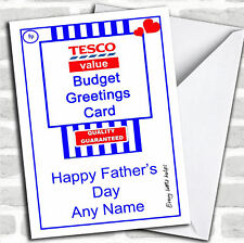 Funny Joke Tesco Value Spoof Father's Day Customised Card