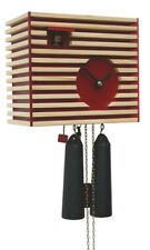 Black Forest Modern Art Cuckoo Clock Bauhaus red NEW