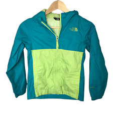 The North Face Jacket Windbreaker Girls Small 7 8 Dryvent Hood Teal Green Zip