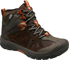 Merrell Waterproof Brown Leather Hiking Boots Youth Size 4 Wide