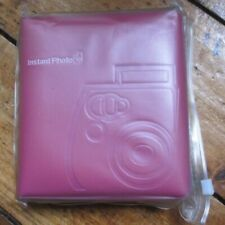 Fujifilm Instax Photo Album Pink - Holds 54 Pics Padded Cover Unused Free UK P+P