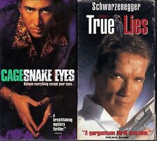 Snake Eyes (VHS, 1999) & True Lies (VHS, 1995)