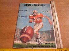 Hoover vs Burroughs 1973 High School football program Southern CA