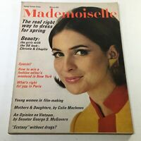 VTG Mademoiselle Magazine: March 1966 - Christy Fashion Model Cover No Label