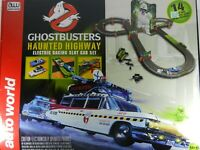 Auto World Ghostbusters Haunted Highway Slot Car Set # SRS260 OPEN BOX