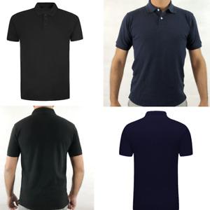 Mens T Shirts Pique Polo Shirt Plain Polycotton T-Shirts Tops Multi color S-XL