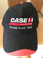 Case IH Agriculture Racine Plant Tour Hat Cap Black Red Adjustable Strapback EUC