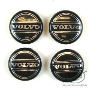 OEM Black Volvo Center Hub Caps for S60 V70/XC70 S80 XC90 C70 Wheels