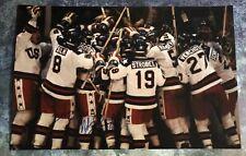 GFA 1980 Miracle on Ice Captain * MIKE ERUZIONE * Signed 12x18 Photo M7 COA