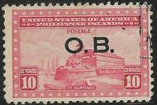 2v0728 Scott PHO19 US Possession Stamp 1935 10c Fort Sandiego Used Philippines