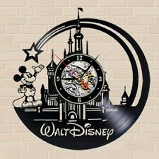 Walt Disney World Vinyl Clock Mickey Mouse Themed Gift Vintage Record