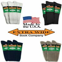 Extra Wide Comfort Athletic Crew Socks MADE IN USA BIGGEST SOCKS ON THE MARKET!