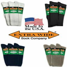 Extra Wide Comfort Athletic Crew Socks 3-PACK MADE IN USA BIGGEST ON THE MARKET!