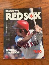 1976 Boston Red Sox Yearbook collectible Baseball Sports Souvenir novalty