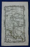 Rare antique road map YORKSHIRE, DURHAM, DARLINGTON, AYCLIFFE, Armstrong, 1776