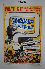 GODZILLA VS. THE THING 1sh ORIGINAL 1964 Toho sci-fi, best monster art, terror